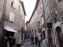 Dorf von südlich von Frankreich, Borme-les Mimosen Lizenzfreie Stockfotografie