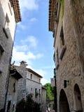Dorf von südlich von Frankreich, Borme-les Mimosen Lizenzfreie Stockfotos
