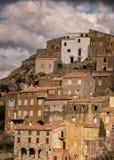 Dorf von Speloncato in der Balagne-Region von Korsika Lizenzfreie Stockbilder