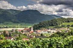 Dorf von Spitz Stockbild