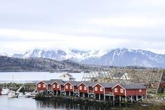 Dorf von Svolvaer lizenzfreie stockfotografie