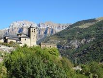 Dorf von Torla, Pirineos lizenzfreie stockfotografie