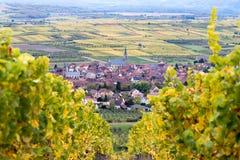 Dorf von Traenheim Stockfotografie