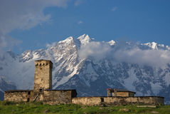 Dorf von Ushguli in Georgia lizenzfreie stockfotos