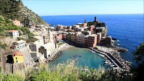 Dorf von vernazza stock video footage