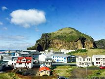Dorf von Vestmannaeyjar Lizenzfreies Stockfoto