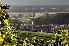 Dorf von Wolxheim Stockfoto