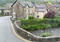 Dorf in Wales Stockbilder