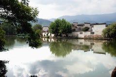 Dorf-Wasser-Stadt Hong Cun alte Stockfotografie