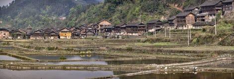 Dorf Zhaoxing Dong der ethnischer Minderheit im Südwesten China Lizenzfreie Stockfotos