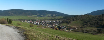 Dorf Zuberec Lizenzfreies Stockfoto