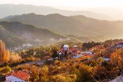 Dorf in Zypern stockfotografie