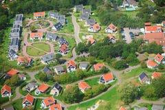 Dorfansicht von oben Lizenzfreie Stockfotografie