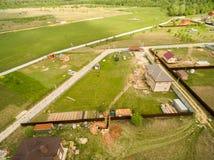 Dorfansicht von oben Stockfoto