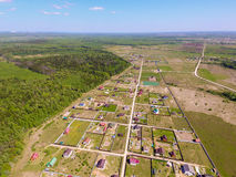 Dorfansicht von oben Lizenzfreies Stockbild