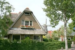 Dorfansicht in Winsum Lizenzfreie Stockfotos