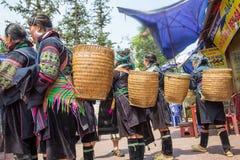 Dorfbewohner von Sapa Stockfotos