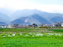 Dorfhäuser in Yunnan Stockfotografie