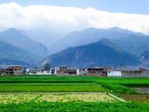 Dorfhäuser in Yunnan Stockbild