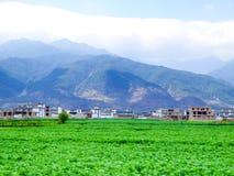 Dorfhäuser in Yunnan Lizenzfreie Stockfotos