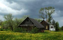 Dorfhaus, Novgorod Region, Russland lizenzfreies stockbild