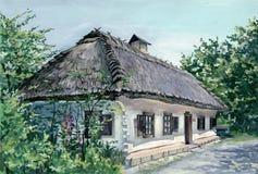 Dorfhaus in Ukraine Lizenzfreies Stockfoto