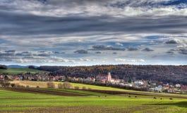 Dorflandschaft Lizenzfreie Stockfotografie