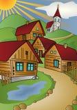 Dorfsommer stock abbildung