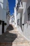Dorfstraße, Frigiliana, Spanien. lizenzfreie stockbilder