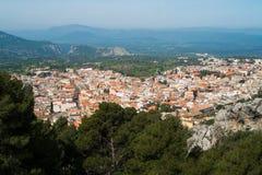 Dorgali. Aerial view of Dorgali, Sardinia, Italy Royalty Free Stock Photos