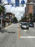 Dori de Kokusai, l'Okinawa, rue internationale, Japon Image stock