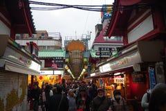 Dori de Nakamise, Asakusa, Tokio, Japón Imagenes de archivo