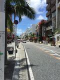 Dori di Kokusai, Naha, Okinawa, Giappone, strada dei negozi, via internazionale Immagini Stock