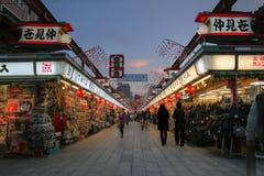 Dori di Nakamise, Asakusa, Tokyo, Giappone Fotografia Stock Libera da Diritti