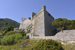 Doria castle at Porto Venere in Italy Royalty Free Stock Image