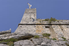 Doria castle at Porto Venere in Italy Royalty Free Stock Photography