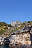 Doria castle (1161) in Portovenere (UNESCO cite), Italy. Doria Castle (circa 1161) in Portovenere town (UNESCO world heritage site). Liguria, Italy Royalty Free Stock Images