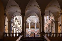 Doria Tursi Palace-binnenplaats stock foto