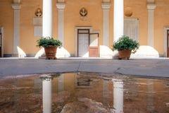 Doria Tursi Palace-binnenplaats stock afbeeldingen