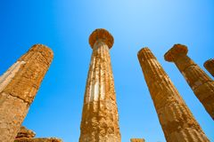 Dorian columns of Temple of Heracles Stock Photos