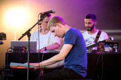 Dorian Concept (composer, producer, and keyboard artist) performs at Sonar Festival. BARCELONA - JUN 19: Dorian Concept (composer, producer, and keyboard artist stock photos
