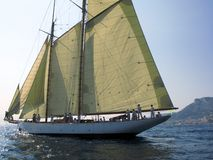 Doriana. Classic sailing yacht Doriana in regatta Royalty Free Stock Images