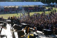 Dorianmusikbandet utför på den Dcode festivalen. Arkivfoto
