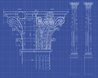 Doric background Royalty Free Stock Photos
