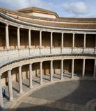 Doric colonnade  of The Palace of Charles V Royalty Free Stock Photos