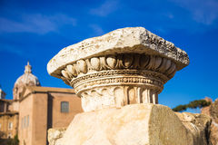 Doric column head Royalty Free Stock Images
