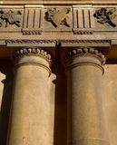 Doric Columns. Columns in classical Doric architectural style Royalty Free Stock Photo