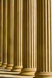 Doric columns. A abstract image of doric columns  from st georges hall liverpool Stock Photo