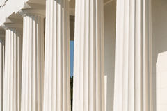Doric Columns Of Ancient Temple Stock Images