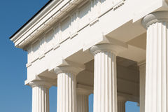 Doric Columns Of Ancient Temple Stock Photos